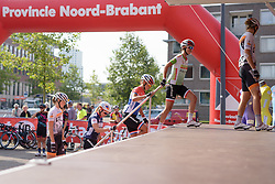 Rabo Liv make their way to sign in at the 111 km Stage 4 of the Boels Ladies Tour 2016 on 2nd September 2016 in 's-Hertogenbosch, Netherlands. (Photo by Sean Robinson/Velofocus).