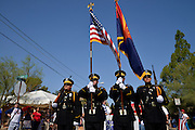 July 4, 2013:  Celebrants in the Palo Verde Neighborhood participate in the 50th annual Fourth of July parade to celebrate the anniversary of the independence of the United States in Tucson, Arizona, USA.  The Honor Guard from the Tucson Police Department heads the parade.