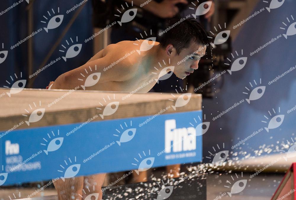 QIU Bo CHN gold medal<br /> Diving - Men's 10m Platform final<br /> Day 10 02/08/2015<br /> XVI FINA World Championships Aquatics Swimming<br /> Kazan Tatarstan RUS July 24 - Aug. 9 2015 <br /> Photo Giorgio Perottino/Deepbluemedia/Insidefoto