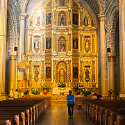 Interior of Church of Santo Domingo de Guzmán in Oaxaca, Mexico