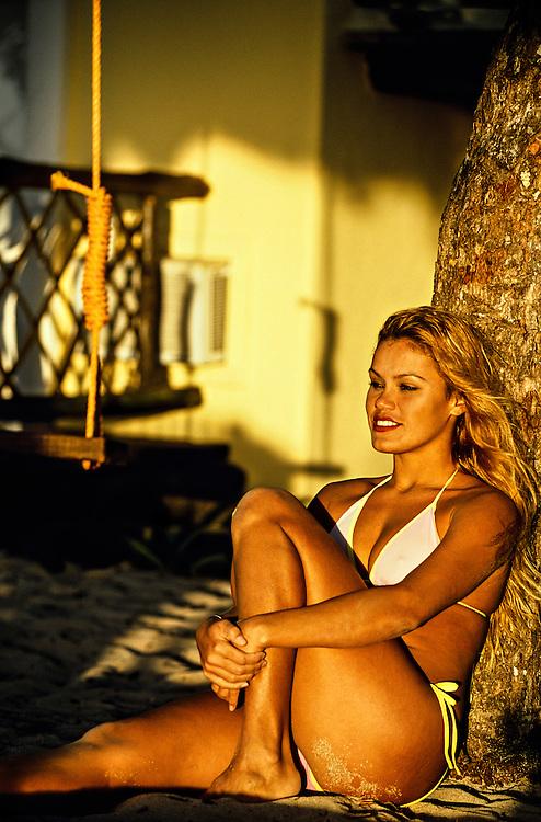 On the beach, Beach Club beach resort, Isla Cozumel, Mexico