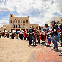 Honor Gourd Dances at Courthouse Square, as part of the Stars and Stripes 4th of July Celebration om Gallup Wednesday.