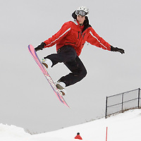 Aaron Kline, snowboard instructor at Chinguacousy Ski Hill.<br /> <br /> Photo by Bryon Johnson
