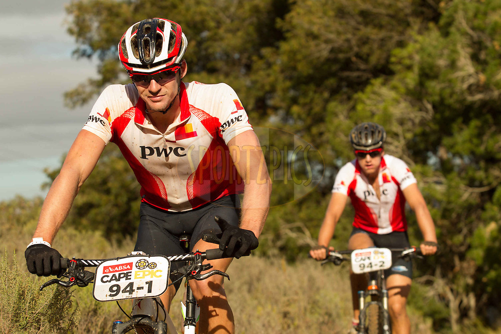 Olympic rowers James Thompson and Matthew Brittain during stage 6 of the 2013 Absa Cape Epic Mountain Bike stage race from Wellington to Stellenbosch, South Africa on the 23 March 2013..Photo by Greg Beadle/Cape Epic/SPORTZPICS