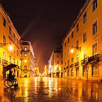Streets of Lisbon at night