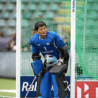 DEN HAAG - Rabobank Hockey World Cup<br /> 34 India - Korea<br /> Foto: Korean Goalie.<br /> COPYRIGHT FRANK UIJLENBROEK FFU PRESS AGENCY