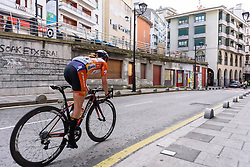 Karol-Ann Canuel (Boels Dolmans) goes solo - Emakumeen Bira 2016 Stage 3 - A 105 km road stage starting and finishing in Berriatua, Spain on 16th April 2016.