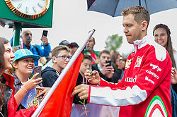03.07.2016, Red Bull Ring, Spielberg, AUT, FIA, Formel 1, Grosser Preis von Österreich, Red Carpet, im Bild Sebastian Vettel (GER) Scuderia Ferrari // German Formula One driver Sebastian Vettel of Scuderia Ferrari during the Red Carpet for the Austrian Formula One Grand Prix at the Red Bull Ring in Spielberg, Austria on 2016/07/03. EXPA Pictures © 2016, PhotoCredit: EXPA/Dominik Angerer