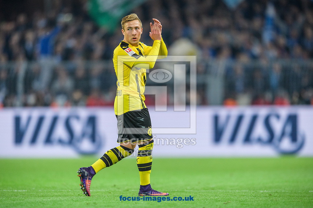 Felix Passlack of Borussia Dortmund during the Bundesliga match at Signal Iduna Park, Dortmund<br /> Picture by EXPA Pictures/Focus Images Ltd 07814482222<br /> 29/10/2016<br /> *** UK &amp; IRELAND ONLY ***<br /> EXPA-EIB-161030-0058.jpg