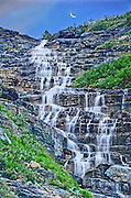 A Waterfall in Glacier National Park