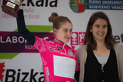 Nikola Noskova (CZE) of BePink Cycling Team retains the best young rider\s pink jersey after Stage 3 of the Emakumeen Bira - a 77.6 km road race, starting and finishing in Antzuola on May 19, 2017, in Basque Country, Spain. (Photo by Balint Hamvas/Velofocus)