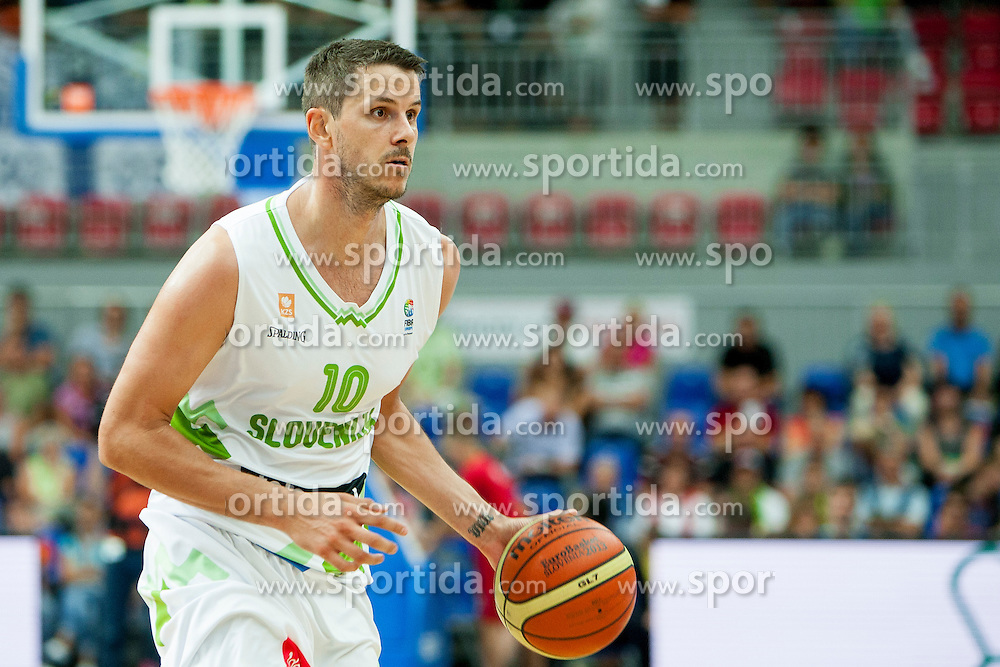 Bostjan Nachbar of Slovenia during friendly match between National teams of Slovenia and Bosnia and Herzegovina for Eurobasket 2013 on August 16, 2013 in Podmezakla, Jesenice, Slovenia. (Photo by Urban Urbanc / Sportida.com)