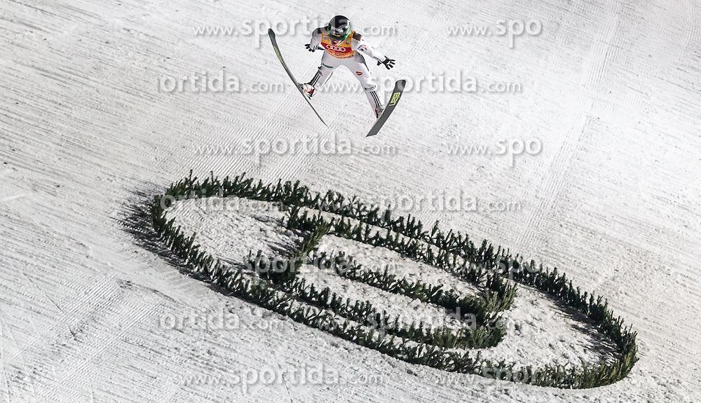 06.01.2016, Paul Ausserleitner Schanze, Bischofshofen, AUT, FIS Weltcup Ski Sprung, Vierschanzentournee, Bischofshofen, Finale, im Bild Peter Prevc (SLO) // Peter Prevc of Slovenia during his final jump of the Four Hills Tournament of FIS Ski Jumping World Cup at the Paul Ausserleitner Schanze in Bischofshofen, Austria on 2016/01/06. EXPA Pictures © 2016, PhotoCredit: EXPA/ JFK