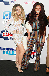 © London News Pictures. Perrie Edwards & Jesy Nelson, Capital FM Summertime Ball, Wembley Stadium, London UK, 06 June 2015, Photo by Brett D. Cove /LNP