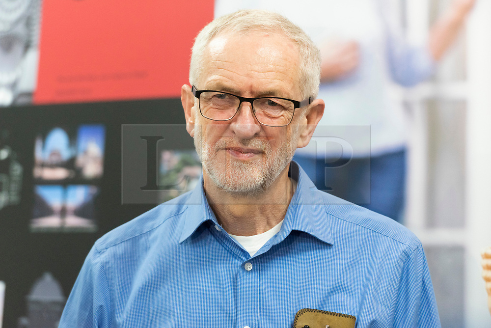 © Licensed to London News Pictures. 03/03/2019. London, UK. British Labour Party leader visits Jeremy Corbyn MP visits Finsbury Park Mosque for Visit My Mosque Day. Photo credit: Ray Tang/LNP