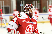 2018-11-14 | Ljungby, Sweden: Troja-Ljungby (36) Wictor Ragnewall during the warm up between Troja Ljungby and Mörrums GoIS at Ljungby Arena ( Photo by: Fredrik Sten | Swe Press Photo )<br /> <br /> Keywords: Icehockey, Ljungby, HockeyEttan, Troja Ljungby, Mörrums GoIS, Ljungby Arena div1, division, troja, ljungby, mörrum, gois,