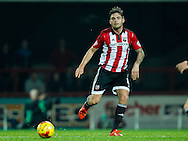 Harlee Dean of Brentford during the Sky Bet Championship match between Brentford and Hull City at Griffin Park, London<br /> Picture by Mark D Fuller/Focus Images Ltd +44 7774 216216<br /> 03/11/2015