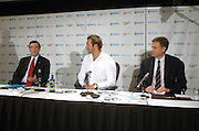 Australian swimmer Ian Thorpe holds a press conference to announce his retirement from professional swimming at the Sofitel, Wentworth, Sydney, Australia, on 21 November 2006. Photo: Delly Carr/PHOTOSPORT<br /> <br /> <br /> <br /> 211106