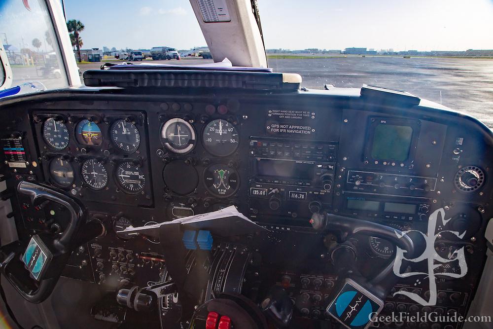 Cockpit of Britten Norman Islander