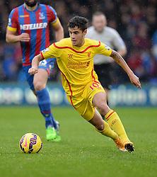 Liverpool's Philippe Coutinho - Photo mandatory by-line: Alex James/JMP - Mobile: 07966 386802 - 23/11/2014 - Sport - Football - London -  - Crystal palace  v Liverpool - Barclays Premier League