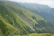 The winding road known as the Abano pass, considered one of the most dangerous roads in the world.
