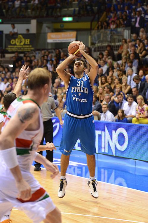 Trieste 8 Settembre 2012 Qualificazioni Europei 2013 Italia Bielorussia<br /> Foto Ciamillo<br /> Nella foto : petto aradori