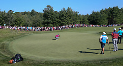 September 1, 2018 - Norton, Massachusetts, United States - Tiger Woods lines up a putt on the 11th green during the second round of the Dell Technologies Championship. (Credit Image: © Debby Wong/ZUMA Wire)