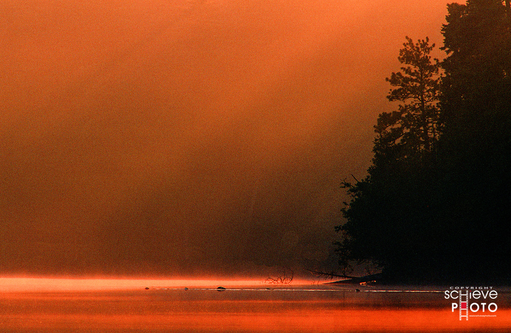 Pre-dawn in the Quetico Provincial Park, Canada.