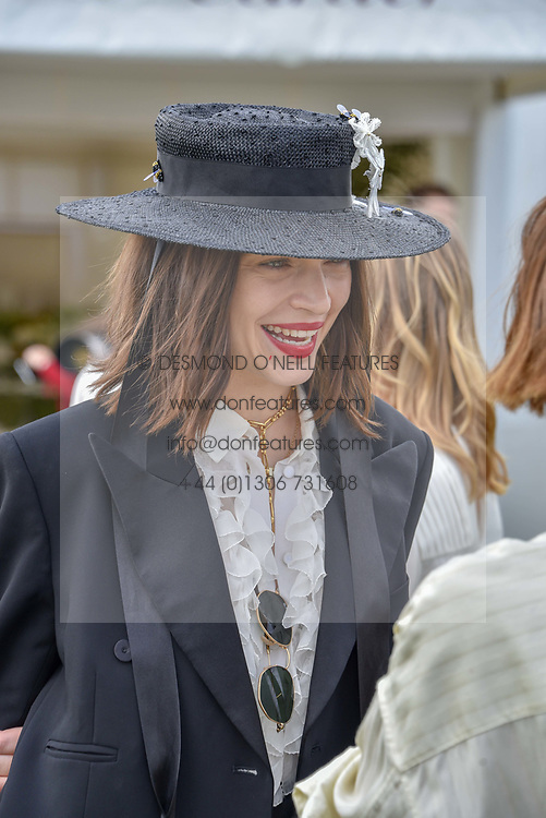 Anna Brewster at the Cartier Queen's Cup Polo 2019 held at Guards Polo Club, Windsor, Berkshire. UK 16 June 2019 - <br /> <br /> Photo by Dominic O'Neill/Desmond O'Neill Features Ltd.  +44(0)7092 235465  www.donfeatures.com