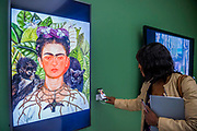 Works by Frida Kahlo are favourited/liked by visitors - From Selfie to Self-Expression at the Saatchi Gallery. The exhibition looks at the history of the Selfie from portrait artists though to modern day selfies and features self-portraits by Rembrandt, Van Gogh, Lucian Freud, Cindy Sherman, Tracey Emin, through to modern day selfies from Kim Kardashian, Hillary Clinton, Ryan Gosling, Trump and others. In addition part of the exhibition includes an international selfie competition; over 14,000 selfies have been submitted to the competition and will be exhibited at the gallery alongside other art works. The show is sponsored by Huawei and runs from 31st March – 30th May 2017.