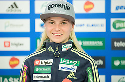 Spela Rogelj during official presentation of the outfits of the Slovenian Ski Teams before new season 2015/16, on October 6, 2015 in Kulinarika Jezersek, Sora, Slovenia. Photo by Vid Ponikvar / Sportida