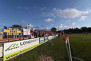 Wimbledon fans during the Sky Bet League 2 play-off second leg match between Accrington Stanley and AFC Wimbledon at the Fraser Eagle Stadium, Accrington, England on 18 May 2016. Photo by Pete Burns.