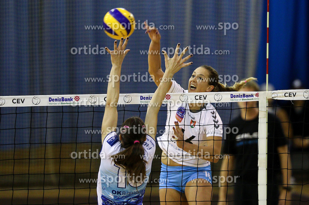Monika Potokar of Calcit Volley at volleyball match between OK Calcit Ljubljana and OK Braslovce in 1st Round of 1. DOL 2015/16 , on October 7, 2015 in Hala Tivoli, Ljubljana, Slovenia. Photo by Matic Klansek Velej / Sportida