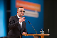 09 DEC 2014, KOELN/GERMANY:<br /> Jens Spahn, MdB, CDU, Gesundheitspolitischer Sprecher der CDU/CSU Bundestagsfraktion, haelt eine Rede, CDU Bundesparteitag, Messe Koeln<br /> IMAGE: 20141209-01-143<br /> KEYWORDS: Party Congress