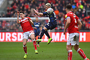 Ezgjan Alioski (10) of Leeds United challenges Callum O'Dowda (11) of Bristol City during the EFL Sky Bet Championship match between Bristol City and Leeds United at Ashton Gate, Bristol, England on 9 March 2019.