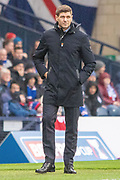 Rangers Manager Steven Gerrard during the Betfred Scottish League Cup semi-final match between Rangers and Heart of Midlothian at Hampden Park, Glasgow, United Kingdom on 3 November 2019.