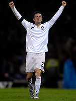 Photo: Jed Wee/Sportsbeat Images.<br /> Scotland v Italy. UEFA European Championships Qualifying. 17/11/2007.<br /> <br /> Italy's matchwinner Christian Panucci celebrates.