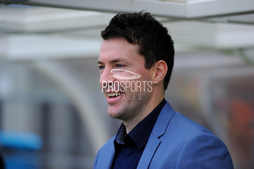 Eastleigh manager Chris Todd before the The FA Cup third round match between Eastleigh and Bolton Wanderers at Silverlake Stadium, Ten Acres, Eastleigh, United Kingdom on 9 January 2016. Photo by Graham Hunt.