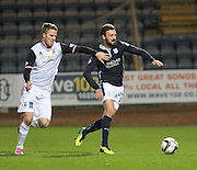 Dundee's Kevin McBride and Inverness' Marley Watkins - Dundee v Inverness Caledonian Thistle, SPFL Premiership at Dens Park <br /> <br />  - &copy; David Young - www.davidyoungphoto.co.uk - email: davidyoungphoto@gmail.com