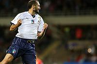 06.10.2017 - Torino -  - Qualificazioni Russia 2018   -  Italia-Macedonia  nella  foto: Giorgio Chiellini  esulta dopo il gol