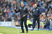 Brighton Manager, Chris Hughton during the EFL Sky Bet Championship match between Brighton and Hove Albion and Preston North End at the American Express Community Stadium, Brighton and Hove, England on 15 October 2016.