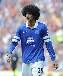 Everton's Marouane Fellaini  - Photo mandatory by-line: Alex James/JMP - Tel: Mobile: 07966 386802 31/08/2013 - SPORT - FOOTBALL - Cardiff City Stadium - Cardiff - Cardiff City V Everton - Barclays Premier League