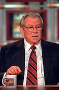 Former Sen. Howard Baker discusses the ongoing scandal involving President Clinton during NBC's Meet the Press September 27, 1998 in Washington, DC.