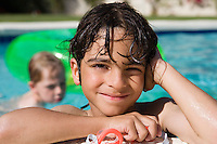 Boy at Edge of Swimming Pool
