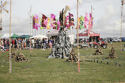 Flags, Centenary. Carruan Farm. Polzeath. Conrwall. In aid of the new Padstow Lifeboat Station. 28 August 2006. ONE TIME USE ONLY - DO NOT ARCHIVE  © Copyright Photograph by Dafydd Jones 66 Stockwell Park Rd. London SW9 0DA Tel 020 7733 0108 www.dafjones.com
