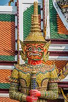 giant demon yaksha Atsakanmala portrait grand palace Bangkok Thailand