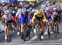 March 10, 2019 - Saint-Germain-En-Laye, France - Saint-Germain-en-Laye, France - March 10 : DYLAN GROENEWEGEN of TEAM JUMBO - VISMA, FABIO JAKOBSEN of DECEUNINCK - QUICK - STEP, CALEB EWAN of LOTTO SOUDAL during stage 1 of the 2019 Paris - Nice cycling race with start and finish in Saint-Germain-en-Laye (138,5km) on March 10, 2019 in Saint-Germain-en-Laye, France, 10/03/2019 (Credit Image: © Panoramic via ZUMA Press)