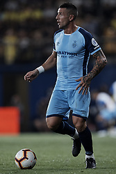 August 31, 2018 - Vila-Real, Castellon, Spain - Francesc Aday Benitez Caraballo of Girona FC with the ball during the La Liga match between Villarreal CF and Girona FC at Estadio de la Ceramica on August 31, 2018 in Vila-real, Spain  (Credit Image: © David Aliaga/NurPhoto/ZUMA Press)