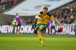 LONDON, ENGLAND - Sunday, March 26, 2017: Lithuania's Vaidas Slavickas in action against England during the 2018 FIFA World Cup Qualifying Group F match at Wembley Stadium. (Pic by Lexie Lin/Propaganda)