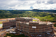 Belo Horizonte_MG, Brasil...Imagem aerea da construcao do Centro Administrativo do Governo de Minas Gerais (Cidade Administrativa), o centro foi projetado por Oscar Niemeyer...The aerial view from the construction of the Minas Gerais Administrative Center (Administrative City), projected by Oscar Niemeyer...Foto: BRUNO MAGALHAES / NITRO